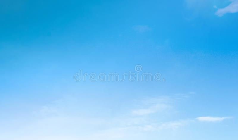 Blue sky with beautiful natural white clouds stock photos