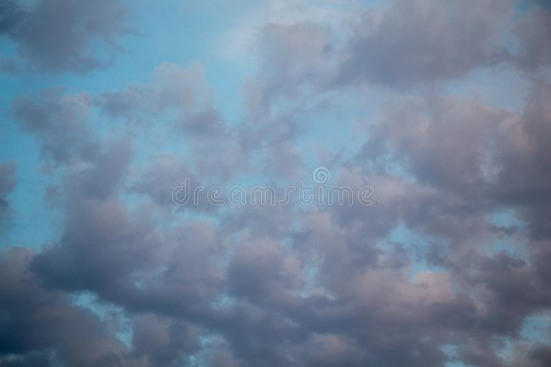 Blue Sky with white clouds. Blue Sky filled with white clouds stock image
