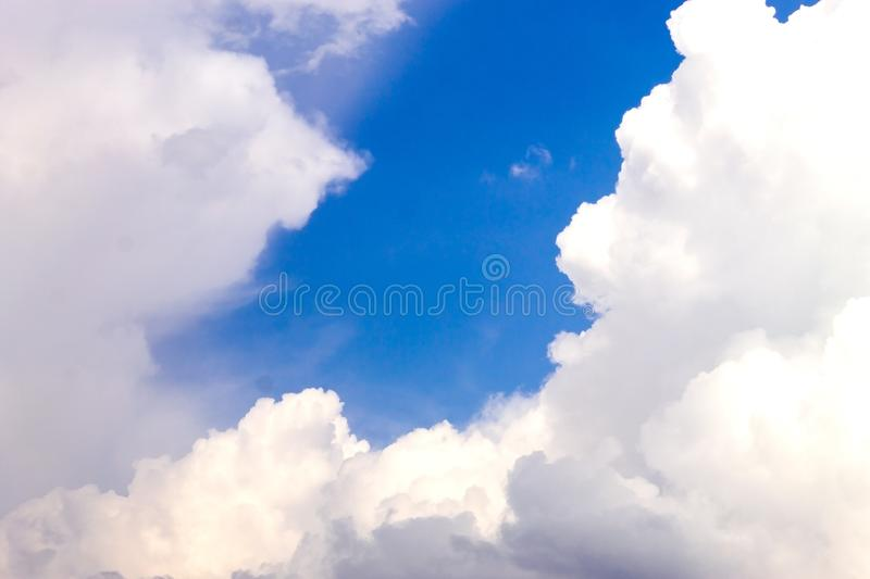 Blue sky with white clouds. royalty free stock photos