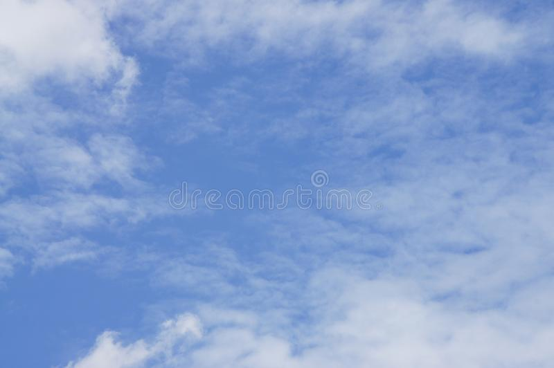 Blue sky, white clouds, natural beauty, transparent and beautiful atmosphere royalty free stock photography