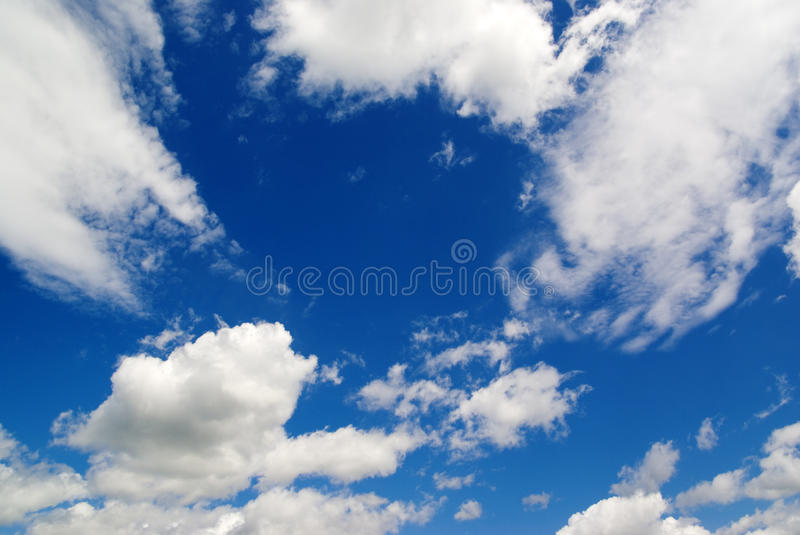 blue sky white clouds, nature stock photo