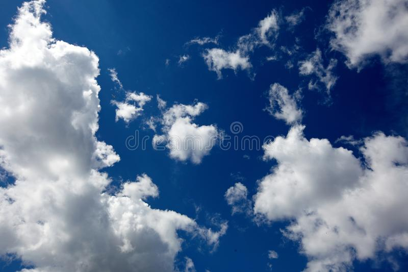 Blue sky white clouds, nature royalty free stock image