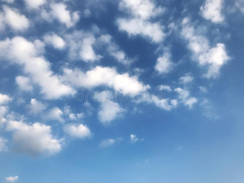Blue sky and white clouds patterns backgrounds.  stock photography