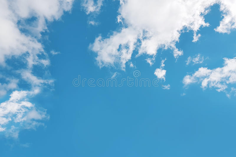 Blue sky and white clouds spring time. royalty free stock image