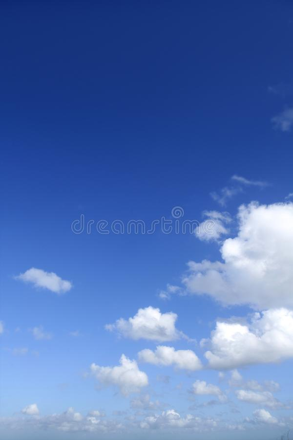 Blue Sky White Clouds In A Summer Clean Day Royalty Free Stock Images