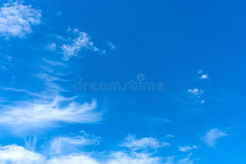 Blue sky with soft clouds. Blue sky with white soft clouds stock images
