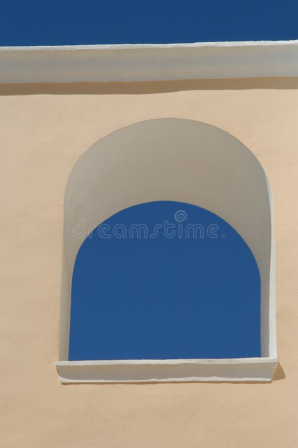 Download Blue sky in a window stock photo. Image of tourist, island - 20408
