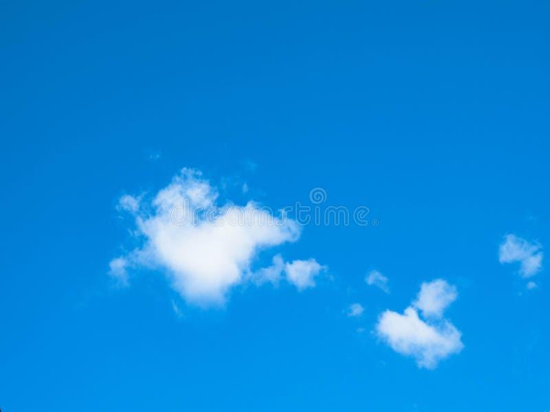 Blue sky windy clouds stock image