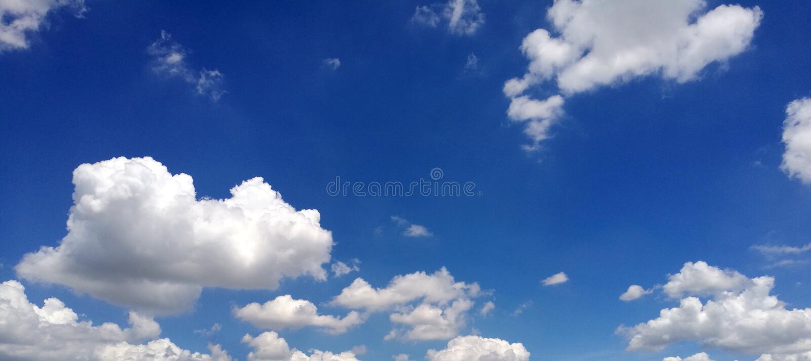 Blue sky wit cloud in the morning royalty free stock photos