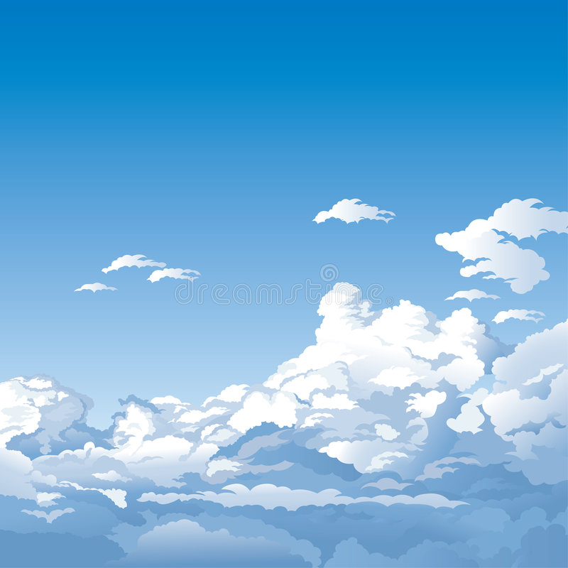 Free Blue Sky With Clouds Royalty Free Stock Images - 5080229