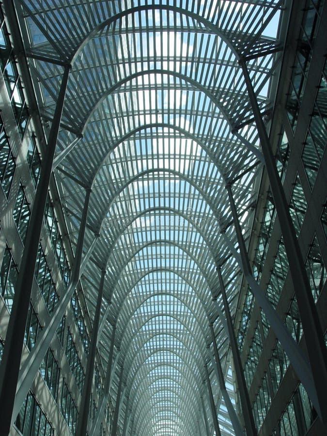 Blue skylight in Toronto stock image