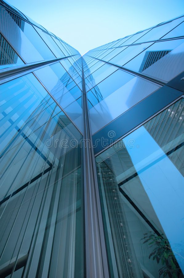 Download Blue Skyscraper Stock Photography - Image: 1408962