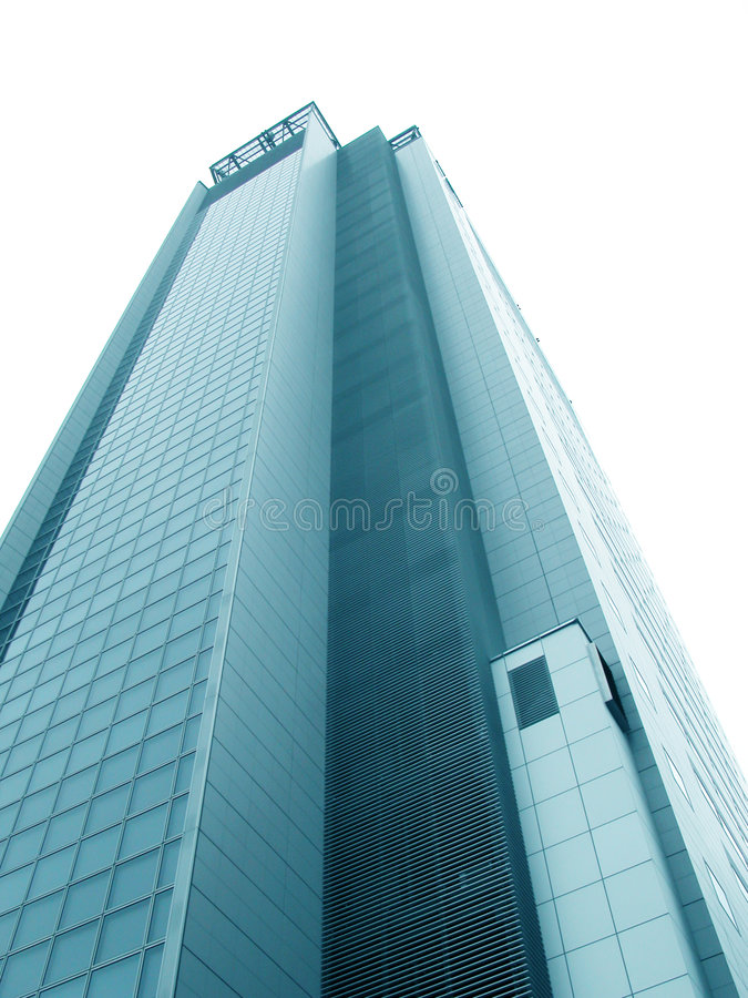 Blue skyscraper. Over white Browse my royalty free illustration