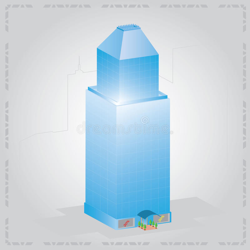 Download Blue skyscraper stock vector. Image of hotel, blue, glass - 20349893
