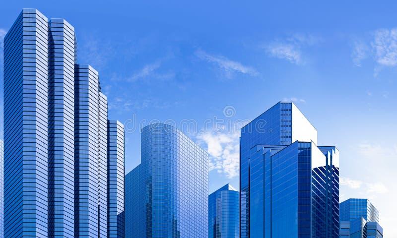 Blue Skyscraper Skyline Stock Images