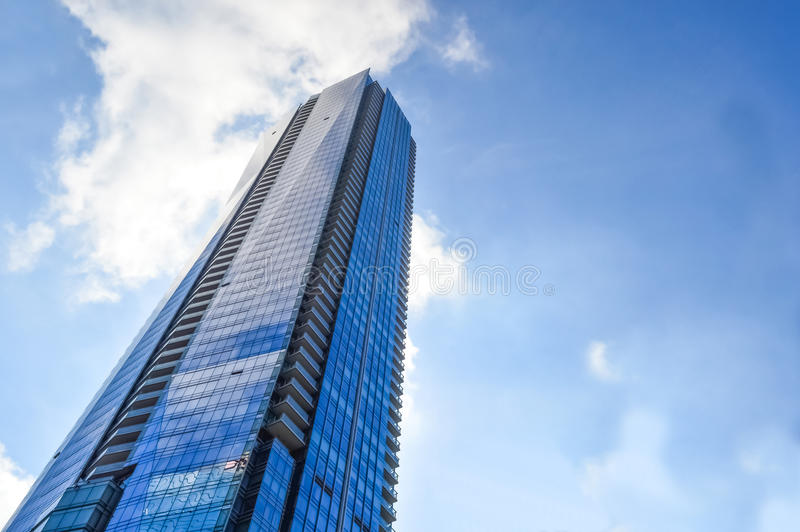 Blue skyscraper Toronto downtown royalty free stock images