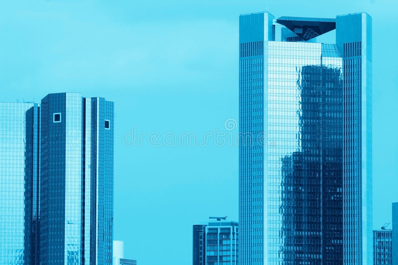 Blue Skyscrapers stock image