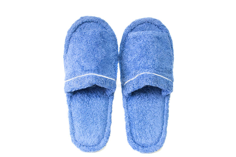 Download Blue slippers stock photo. Image of bathroom, foot, comfort - 13999300