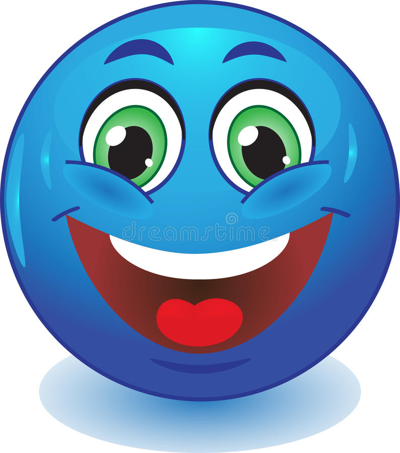 Download Blue smiley smiles stock vector. Image of icon, emotion - 32503976