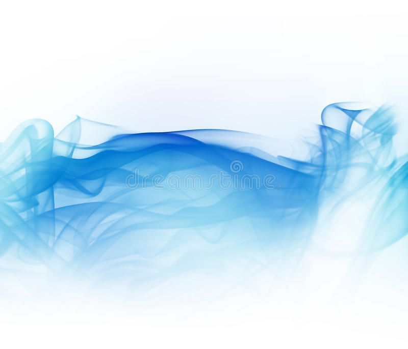 Download Blue smoke stock illustration. Image of flowing, contemporary - 12291222