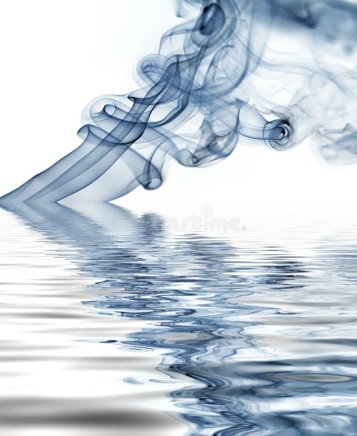 Blue smoke royalty free illustration