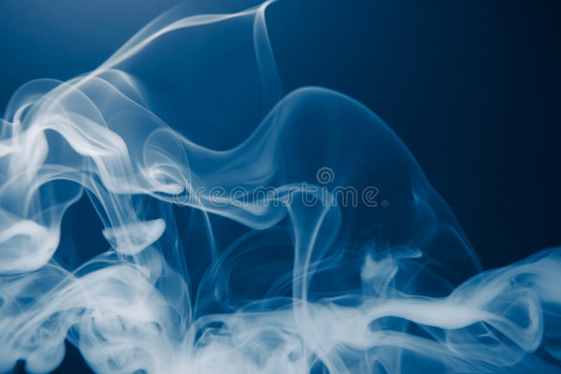 Blue smoke background. Copy-space for your text stock image