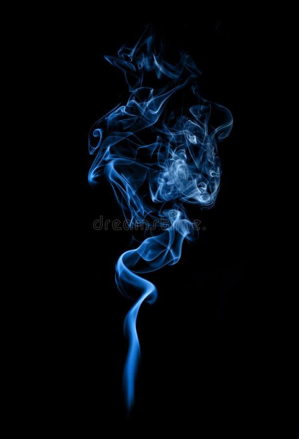 Blue smoke. royalty free stock images