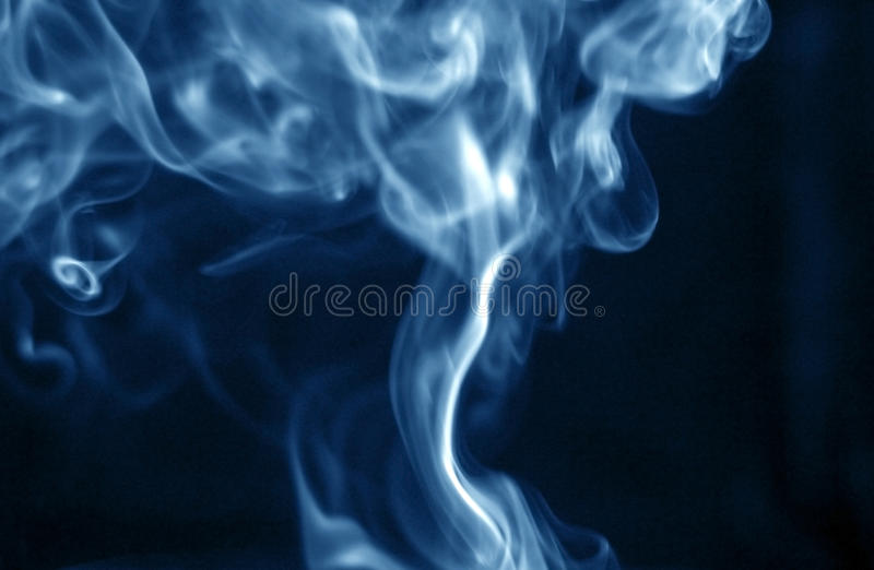Blue smoke stock photography