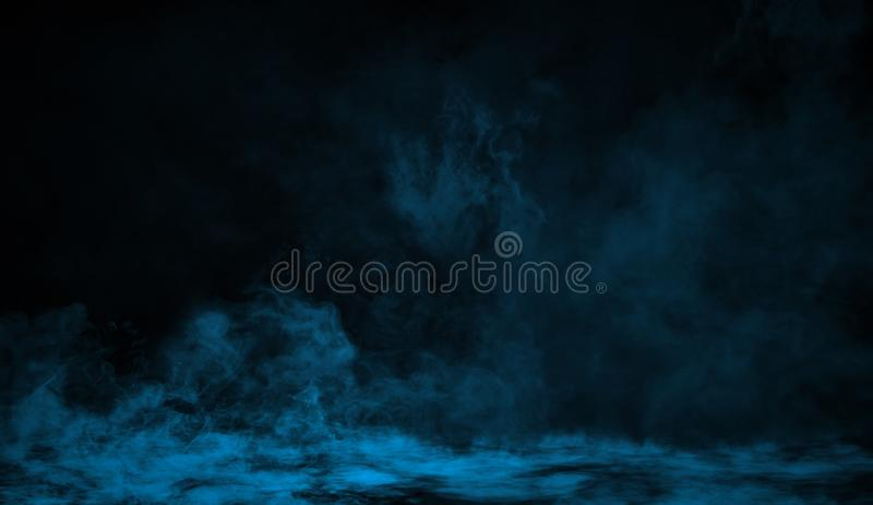Blue smoke on the floor. Isolated texture background vector illustration