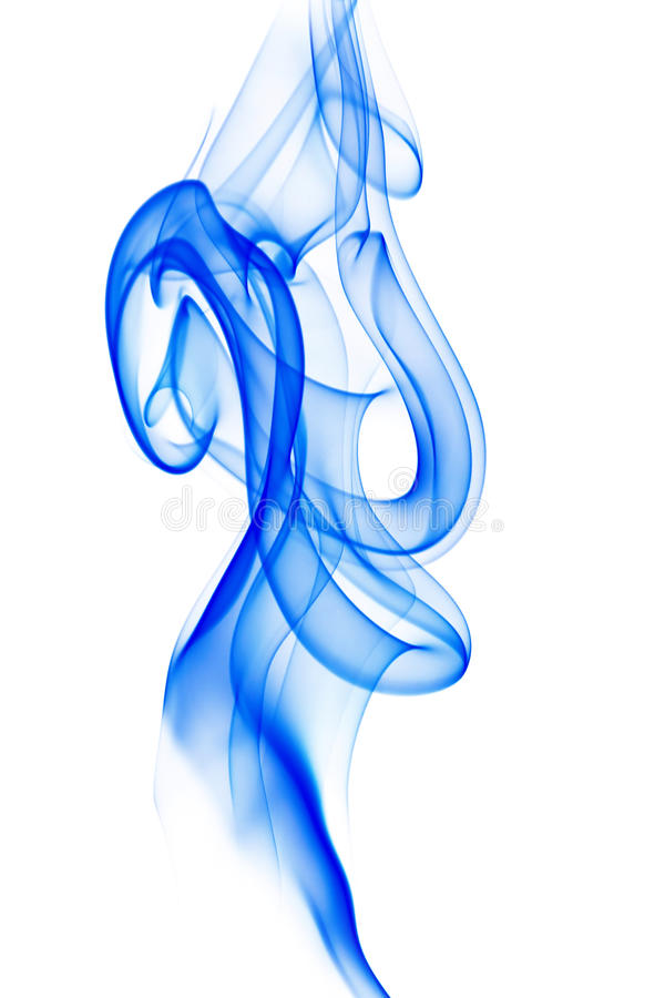 Download Blue smoke on white stock image. Image of curve, graceful - 26001989