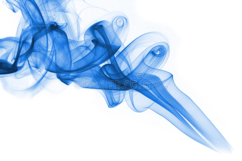Download Blue Smoke On White Background Royalty Free Stock Photo - Image: 14262785