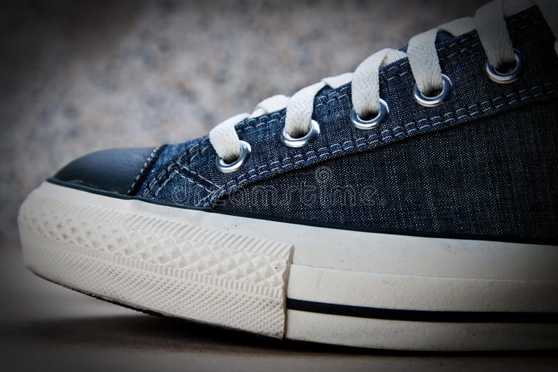 Download Blue sneaker stock image. Image of gray, rubber, jeans - 17436221