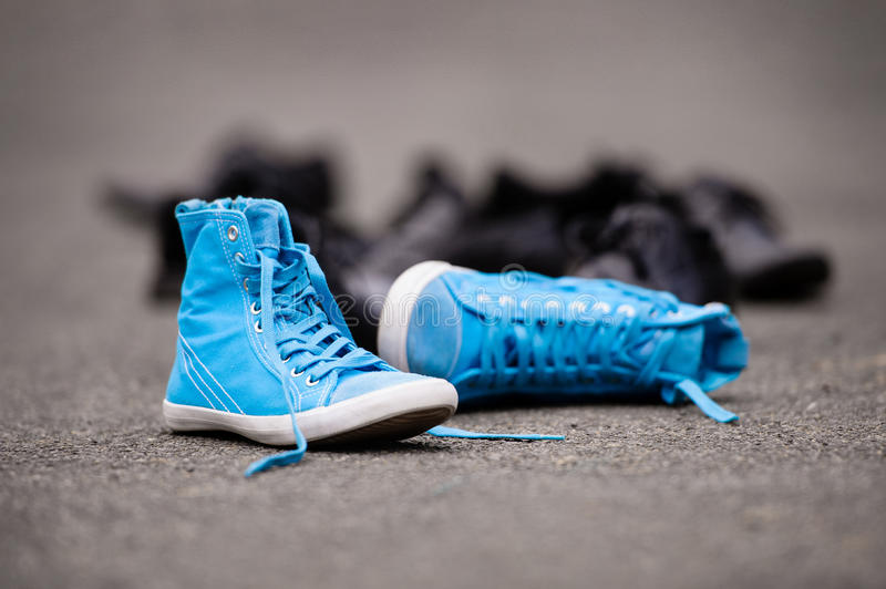 Download Blue Sneakers stock photo. Image of fitness, freedom - 28323954