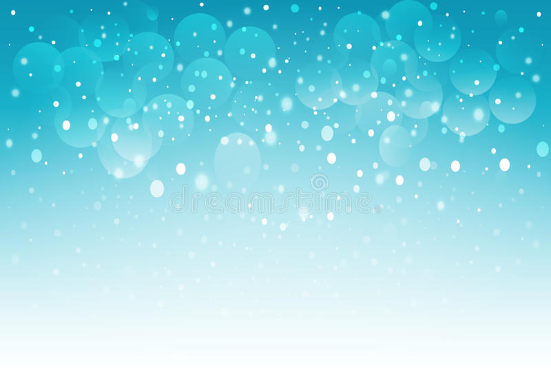 Blue snow bokeh background. Vector EPS 10. stock image