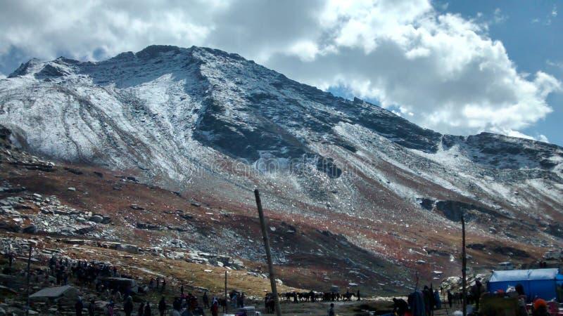 Blue snow mountain royalty free stock photos
