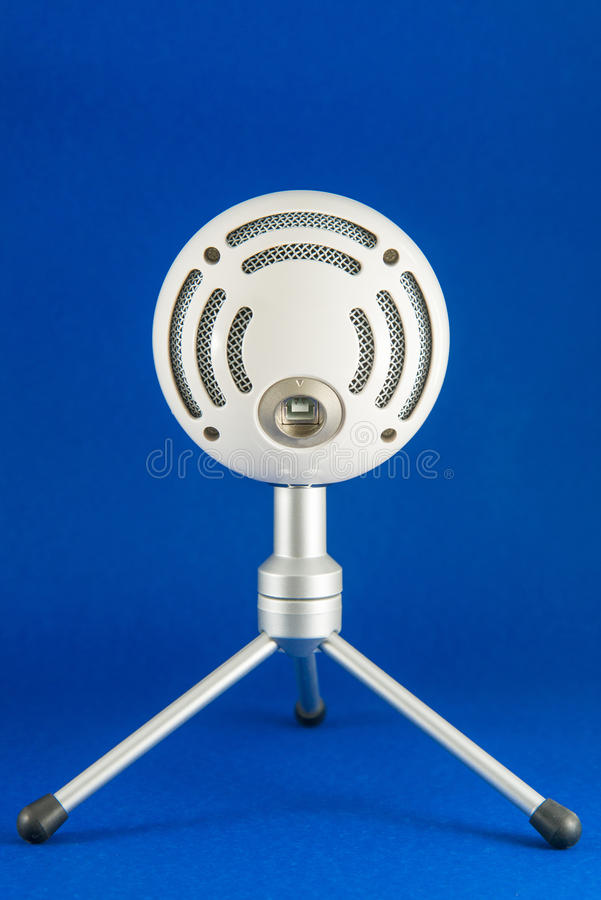 Blue Snowball Podcast Condenser Microphone royalty free stock images