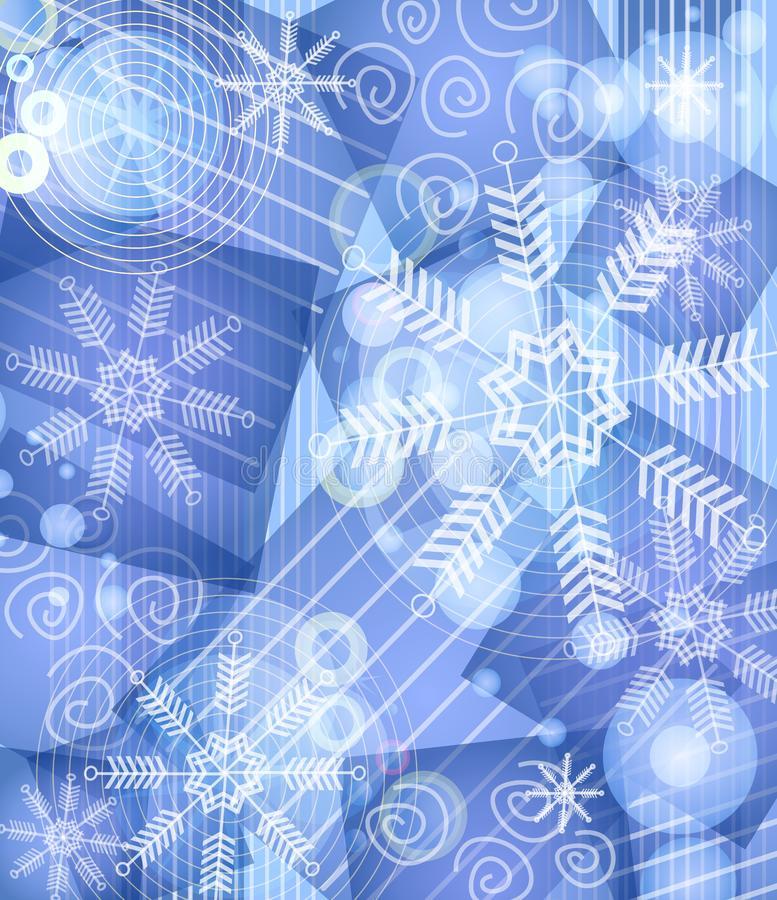 Blue Snowflake Background 2 stock images