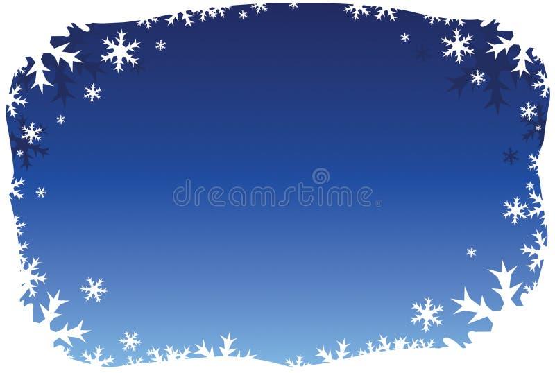 Blue Snowflake Border stock image