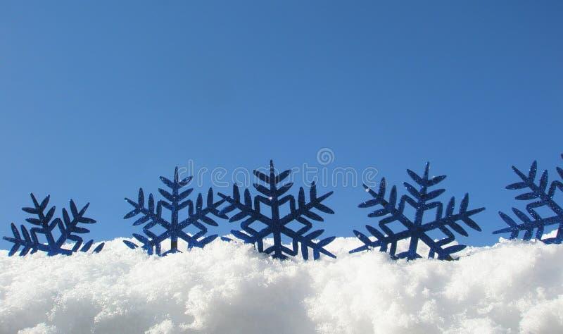 Blue snowflakes stock photo