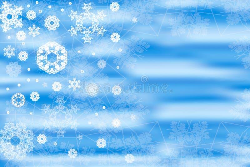 Blue Snowflakes Background Stock Photos