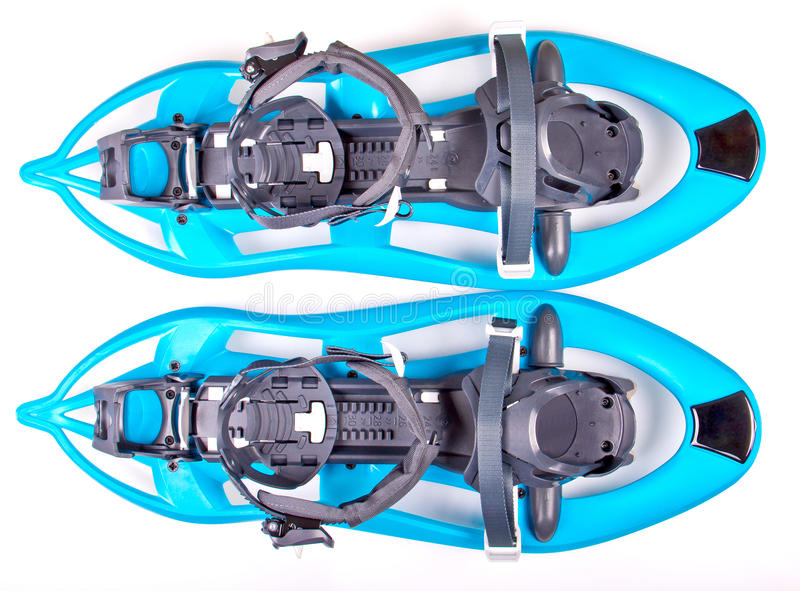 Blue Snowshoes royalty free stock photo