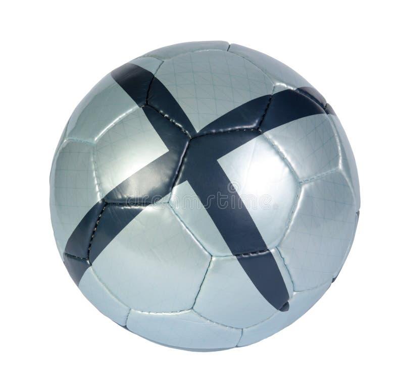 Blue Soccer Ball Stock Photo