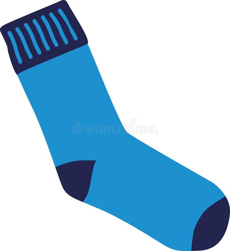 Blue sock cotton. Blue sock fashion cotton vector vector illustration