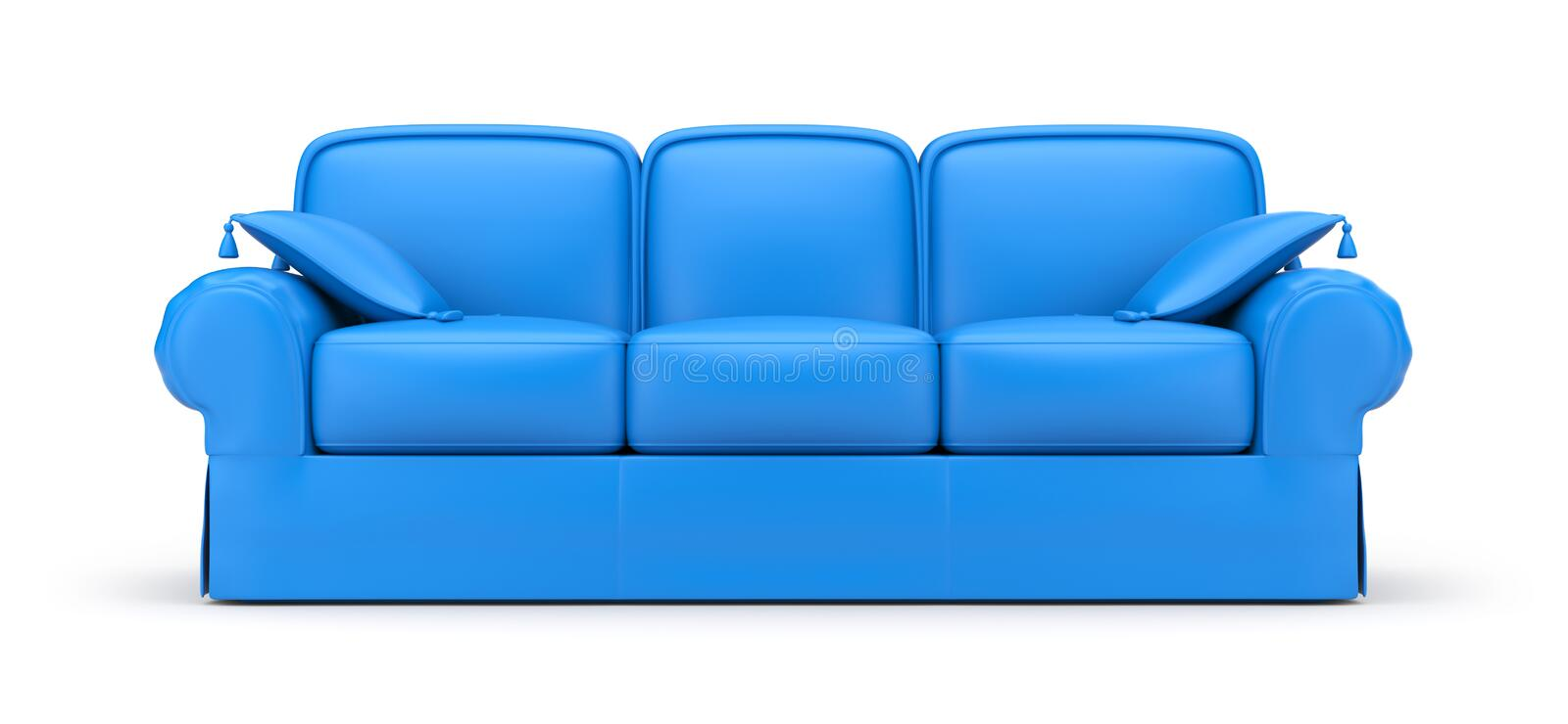 Download Blue Sofa stock illustration. Illustration of idea, comfortable - 24733062