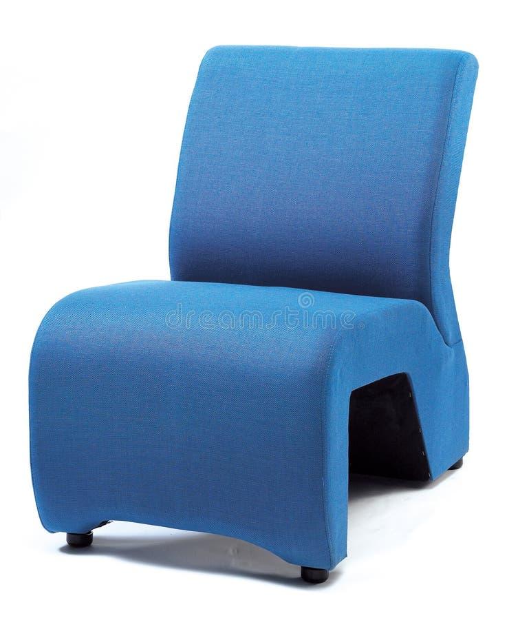 Blue Sofa. A close-up shot of a blue single seater sofa stock photos