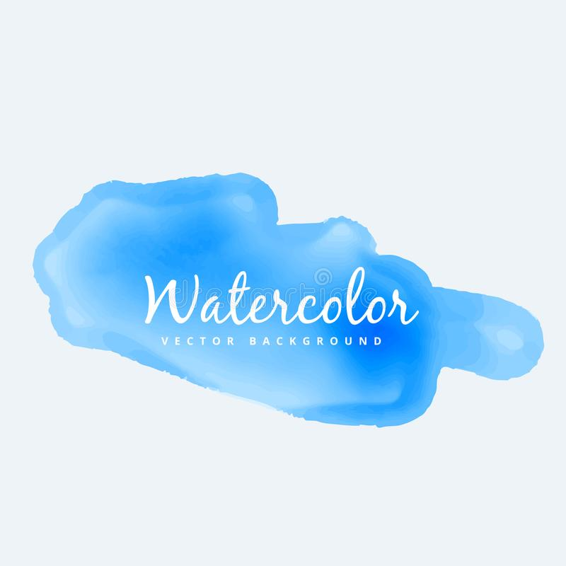 Blue soft watercolor stain vector design illustration royalty free illustration