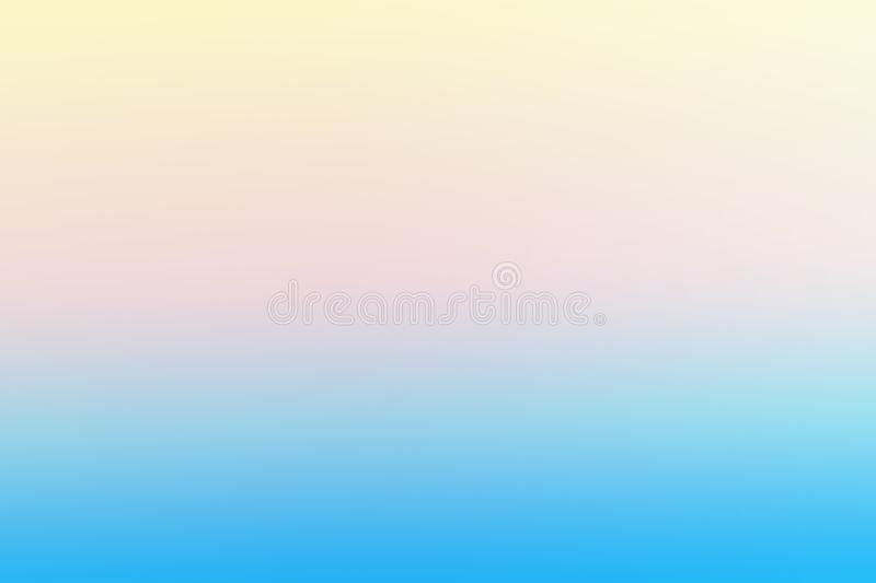 Blue and soft yellow abstract gradient template background royalty free illustration