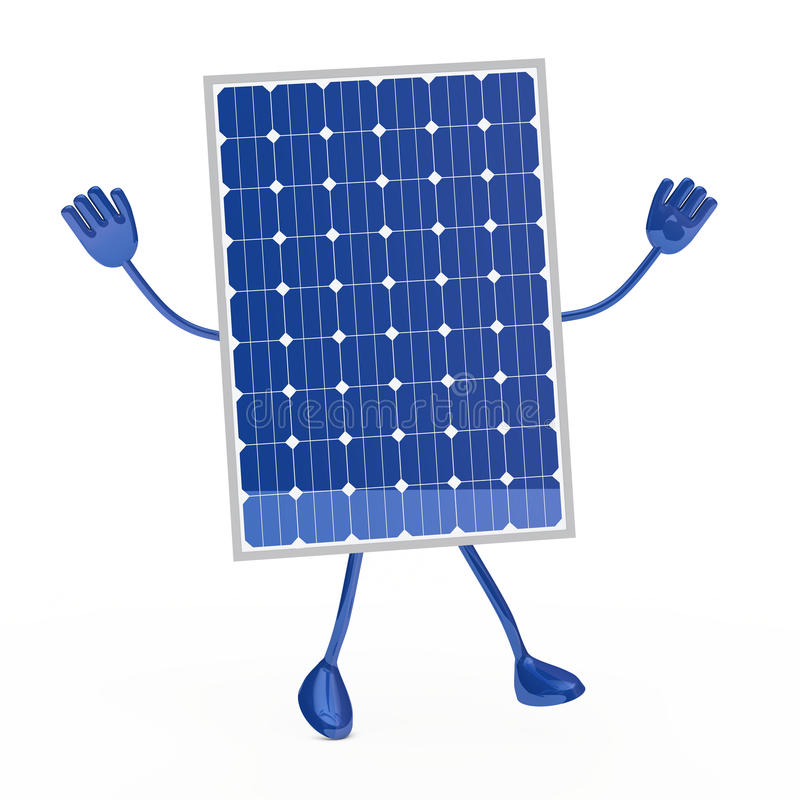 Blue solar figure royalty free illustration