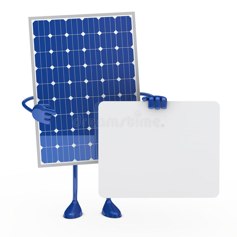 Blue solar panel figure vector illustration
