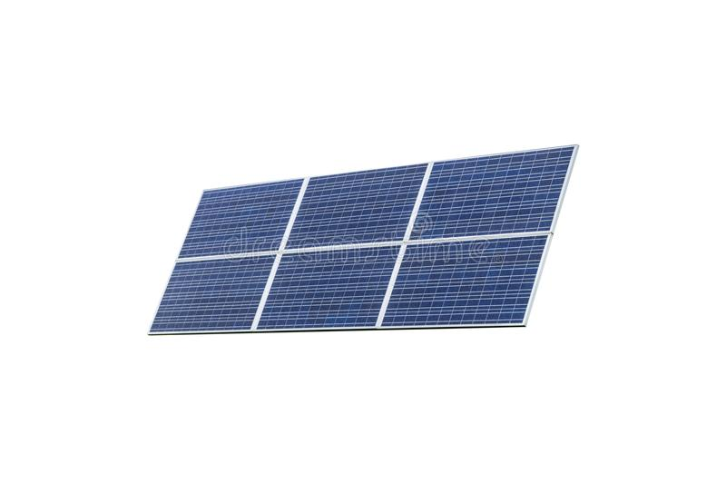 Blue Solar panel isolated on white background. Solar panels pattern for sustainable energy. Renewable solar energy. Alternative en stock image